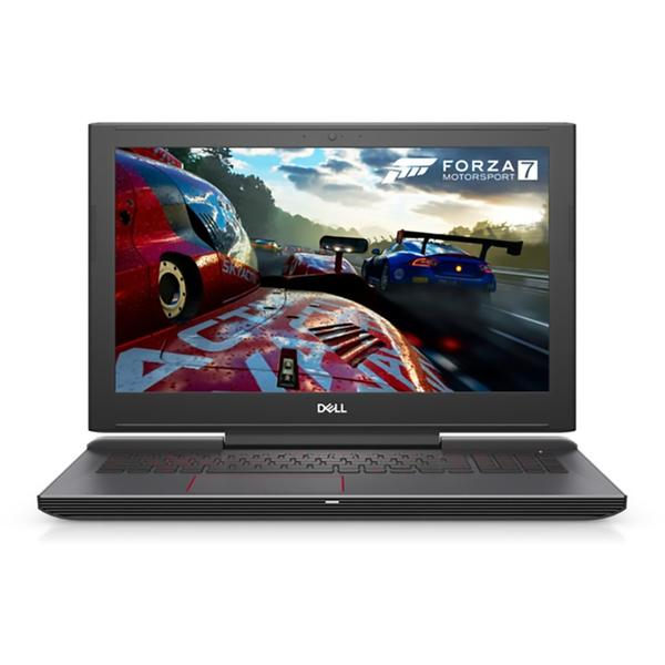 Laptop Dell Inspiron 7577 (seria 7000), Intel Core i7-7700HQ, 16 GB, 1 TB + 256 GB SSD, Linux, Negru