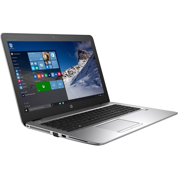 Laptop HP EliteBook 850 G4, GMA HD 620, Intel Core i7-7500U, 8 GB, 256 GB SSD, Microsoft Windows 10 Pro, Argintiu