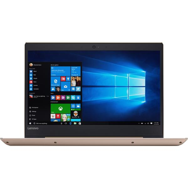 Laptop Lenovo IdeaPad 520S IKB, Intel Core i5-7200U, 4 GB, 1 TB + 128 GB SSD, Microsoft Windows 10 Home, Auriu