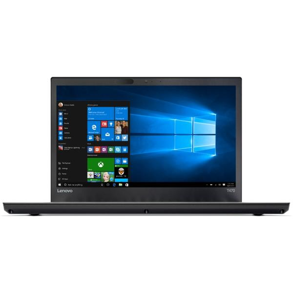 Laptop Lenovo ThinkPad T470, Intel Core i7-7500U, 16 GB, 512 GB SSD, Microsoft Windows 10 Pro, Negru