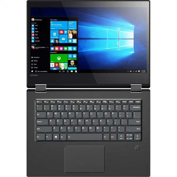 Laptop Lenovo Yoga 520, Intel Core i5-7200U, 8 GB, 1 TB, Microsoft Windows 10 Home, Negru