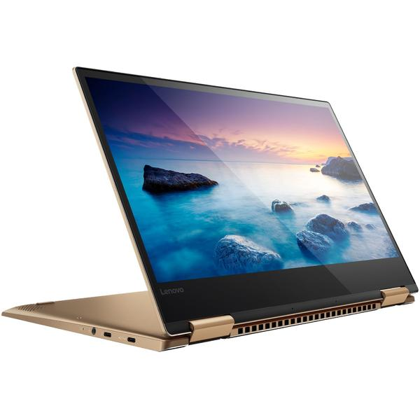 Laptop Lenovo Yoga 720, Intel Core i7-7500U, 16 GB, 512 GB SSD, Microsoft Windows 10 Home, Auriu