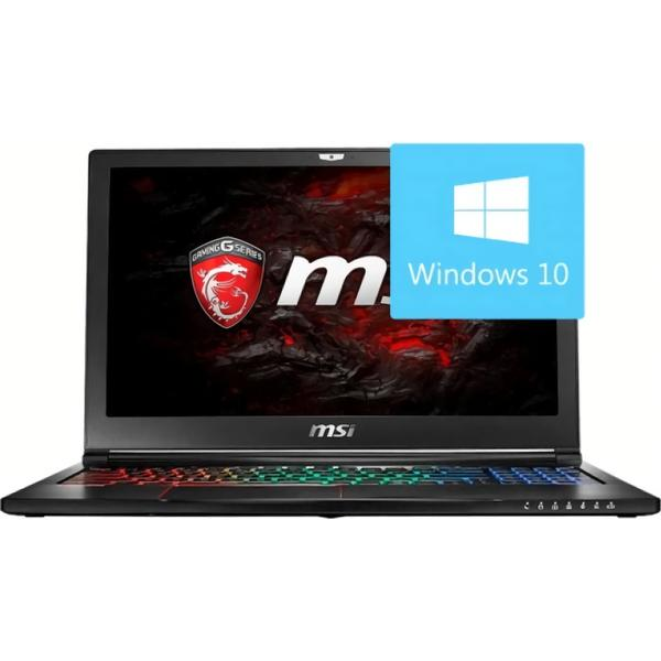 Laptop MSI GL63VR 7RE, Intel Core i7-7700HQ, 16 GB, 1 TB + 256 GB SSD, Microsoft Windows 10 Home, Negru