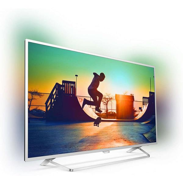 Televizor Philips PUS6412/12, Smart TV, 139 cm, 4K UHD, Argintiu