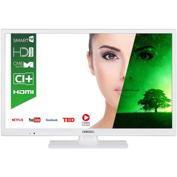 Televizor Horizon HL7111H, Smart TV, 61 cm, HD Ready, Alb