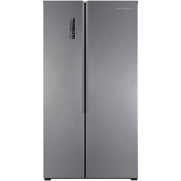 Side by side Heinner HSBS-H430NFX+, 429 l, Clasa A+, No Frost, Display, H 178 cm, Argintiu