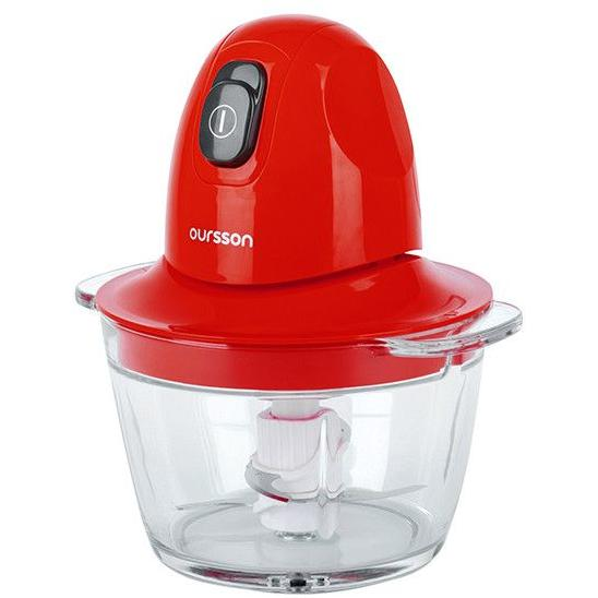 Tocator Oursson CH3010, 300 W, 0.8 l, Rosu