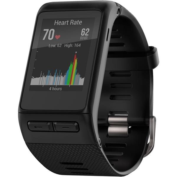 Ceas inteligent Garmin Vivoactive HR Medium, Bluetooth, GPS, Negru