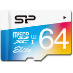 Card de memorie Silicon Power SP064GBSTXBU1V20SP, Micro SDHC, 64 GB, Clasa 10 + Adaptor SD