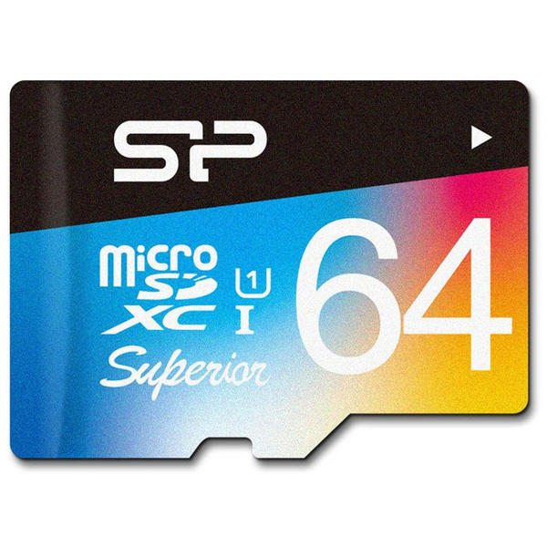 Card de memorie Silicon Power SP064GBSTXDU3V20SP, Micro SDHC, 64 GB, Clasa 10 + Adaptor SD