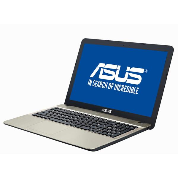 Laptop Asus X541NA, Intel Celeron N3350, 4 GB, 256 GB SSD, Endless OS, Negru / Maro