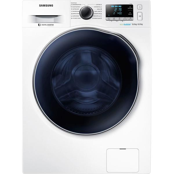 Masina de spalat rufe Samsung WD90J6A10AW, 1400 RPM, 9 Kg spalare, 6 Kg uscare, Clasa A, Alb