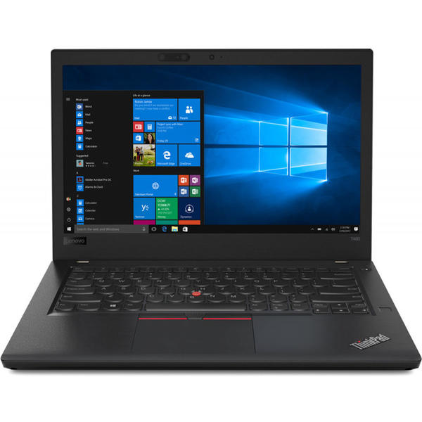 Laptop Lenovo ThinkPad T480, FHD IPS, Intel Core i5-8250U, 8 GB DDR4, 256 GB SSD, Microsoft Windows 10 Pro, Negru