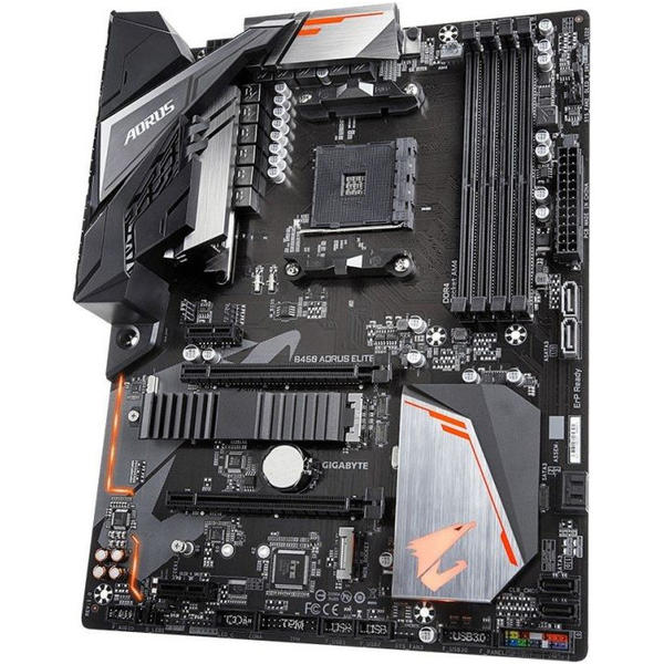 Placa de baza Gigabyte B450 AORUS ELITE, ATX, Socket AM4