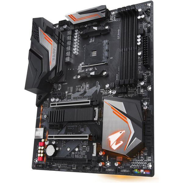 Placa de baza Gigabyte AORUS X470 ULTRA GAMING, ATX, Socket AM4