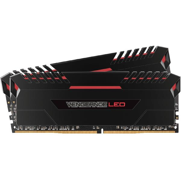 Memorie Corsair Vengeance Red LED, 16 GB, DDR4, 3000 MHz, Dual Channel Kit