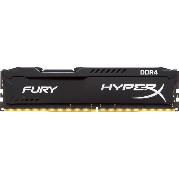 Memorie Kingston HyperX Fury Black, 8 GB, DDR4, 2400 MHz