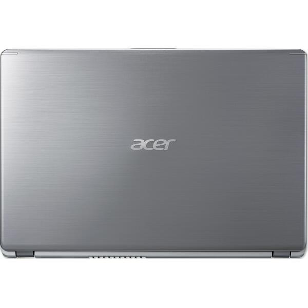 Laptop Acer Aspire 5 A515-52G, Intel Core i5-8265U, 8 GB, 256 GB SSD, Linux, Argintiu
