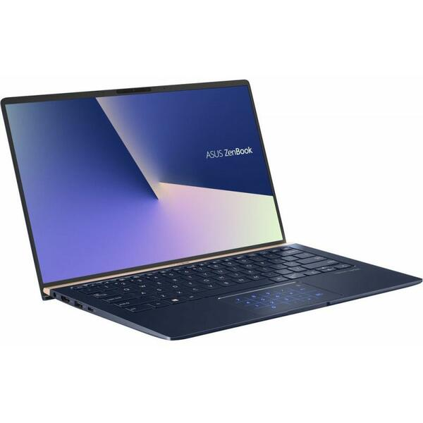 Laptop Asus ZenBook 14 UX433FA-A5082R, Intel Core i7-8565U, 16 GB, 512 GB SSD, Microsoft Windows 10 Pro, Albastru