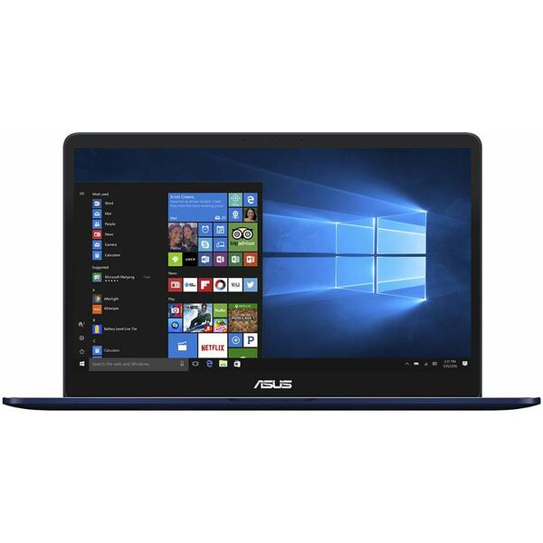 Laptop Asus ZenBook Pro UX550GD, Intel Core i7-8750H, 16 GB, 512 GB SSD, Microsoft Windows 10 Pro, Albastru