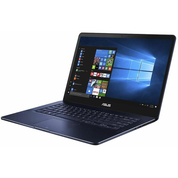 Laptop Asus ZenBook Pro UX550GE, Intel Core i7-8750H, 16 GB, 512 GB SSD, Microsoft Windows 10 Pro, Albastru