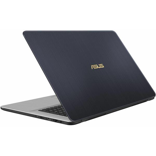 Laptop Asus VivoBook Pro 17 N705UN, Intel Core i7-8550U, 16 GB, 1 TB + 128 GB SSD, Microsoft Windows 10 Pro, Gri