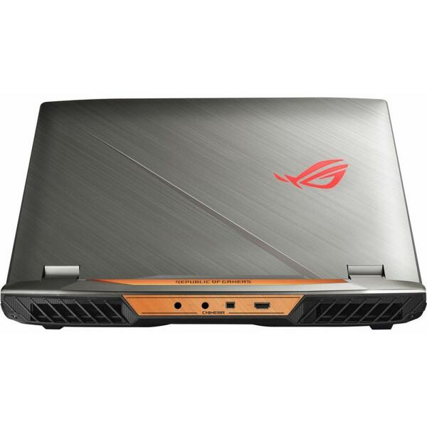 Laptop Asus ROG G703GI, Intel Core i7-8750H, 32 GB, 1 TB + 2 x 256 GB SSD, Microsoft Windows 10 Home, Gri