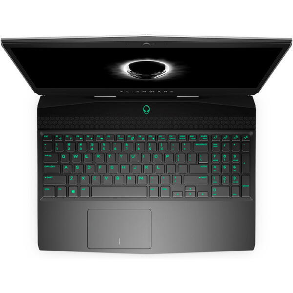 Laptop Dell Alienware M15, Intel Core i7-8750H, 16 GB, 1 TB + 256 GB SSD, Microsoft Windows 10 Pro, Argintiu
