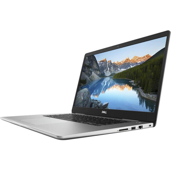 Laptop Dell Inspiron 7580, Intel Core i5-8265U, 8 GB, 1 TB + 128 GB SSD, Microsoft Windows 10 Home, Argintiu