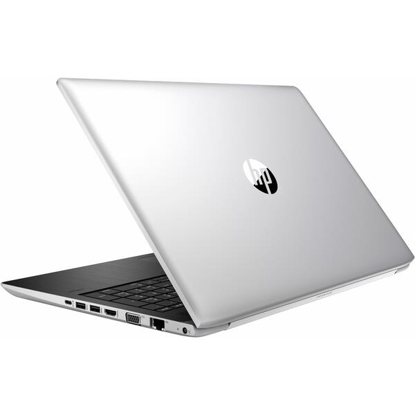 Laptop HP ProBook 450 G5, FHD, Intel Core i7-8550U, 8 GB, 256 GB SSD, Microsoft Windows 10 Pro, Argintiu