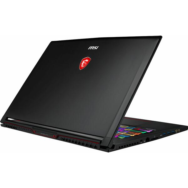 Laptop MSI GS73 Stealth 8RE, Intel Core i7-8750H, 16 GB, 1 TB + 128 GB SSD, Free DOS, Negru