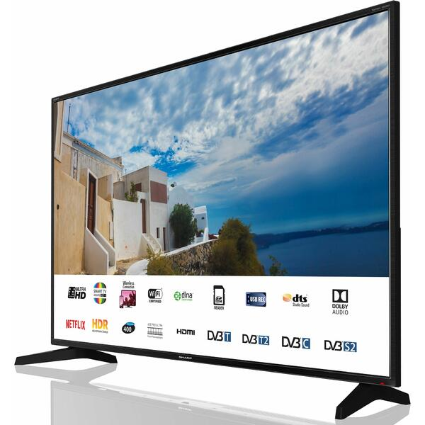 Televizor Sharp LC-50UI7222E, Smart TV, 127 cm, 4K UHD, Negru