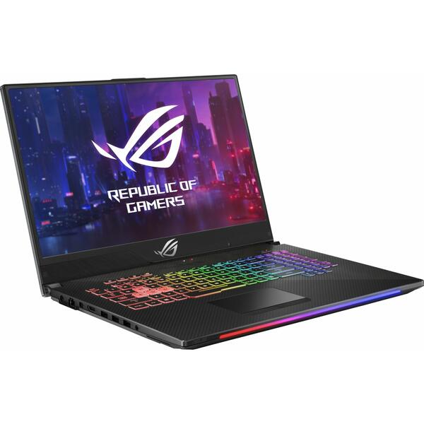 Laptop Asus ROG GL704GW, Intel Core i7-8750H, 32 GB, 1 TB + 256 GB SSD, Microsoft Windows 10 Pro, Negru