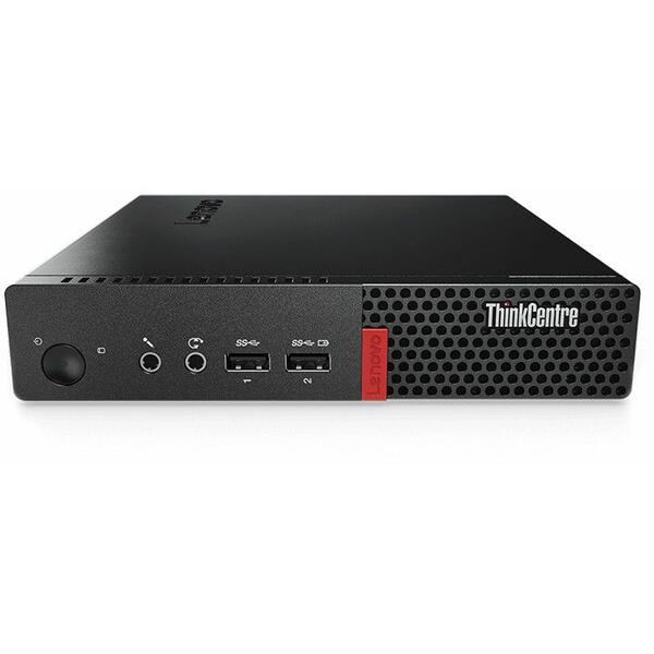 Sistem desktop Lenovo ThinkCentre M710 Tiny, Intel Core i3-7100T, 8 GB, 256 GB SSD, Negru