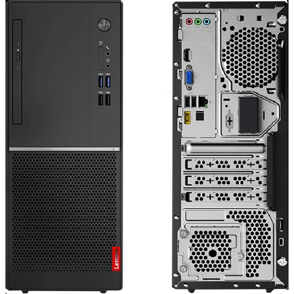 Sistem desktop Lenovo V520 Tower, Intel Core i5-7400, 8 GB, 256 GB SSD, Microsoft Windows 10 Pro, Negru