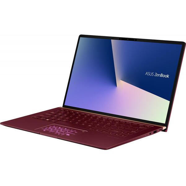 Laptop Asus ZenBook 13 UX333FA, FHD, Intel Core i7-8565U, 8 GB, 512 GB SSD, Microsoft Windows 10 Home, Rosu