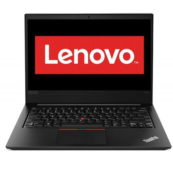 Laptop Lenovo ThinkPad E480, FHD, Intel Core i7-8550U, 8 GB, 256 GB SSD, Microsoft Windows 10 Pro, Negru
