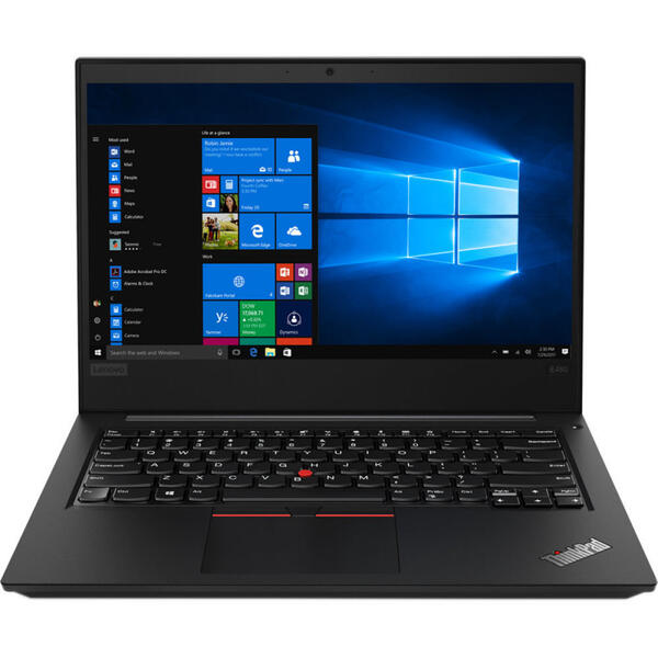 Laptop Lenovo ThinkPad E485, FHD IPS, AMD Ryzen 7 2700U, 8 GB, 256 GB SSD, Microsoft Windows 10 Pro, Negru