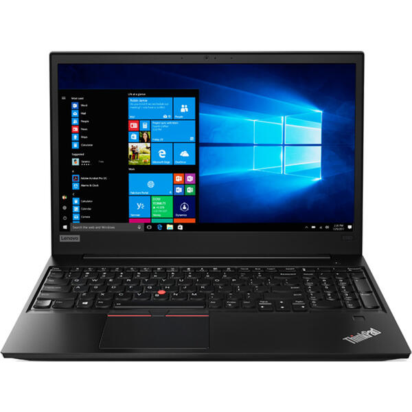Laptop Lenovo ThinkPad E580, FHD IPS, Intel Core i5-8250U, 8 GB, 256 GB SSD, Microsoft Windows 10 Pro, Negru
