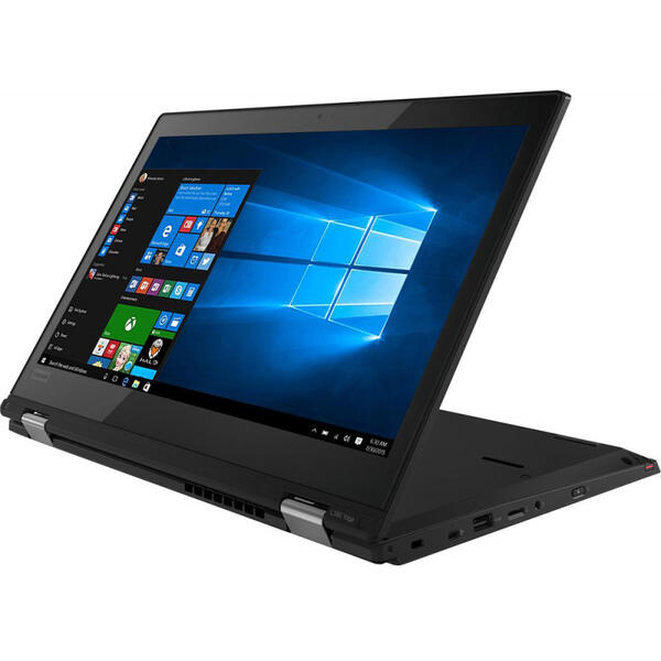 Laptop Lenovo ThinkPad L380 Yoga, FHD IPS Touch, Intel Core i5-8250U, 8 GB, 512 GB SSD, Microsoft Windows 10 Pro, Negru