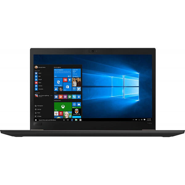 Laptop Lenovo ThinkPad T480s, FHD IPS, Intel Core i7-8550U, 8 GB, 256 GB SSD, Microsoft Windows 10 Pro, Negru