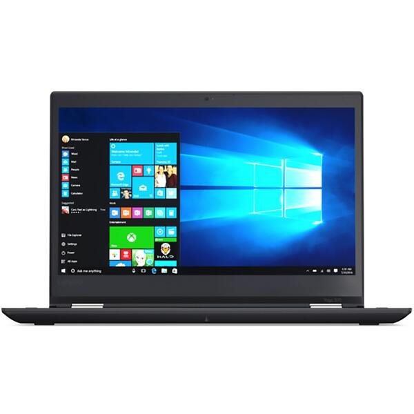 Laptop Lenovo ThinkPad Yoga 370, FHD IPS Touch, Intel Core i7-7500U, 8 GB, 512 GB SSD, Microsoft Windows 10 Pro, Negru