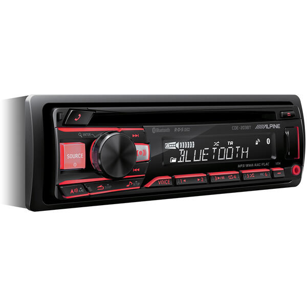 Player auto Alpine CDE-203BT, 1 DIN, 4 x 50 W, USB, AUX, Bluetooth