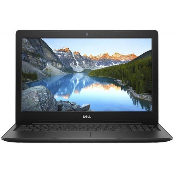 Laptop Dell Inspiron 3584 (seria 3000), FHD, Intel Core i3-7020U, 4 GB, 128 GB SSD, Linux, Negru