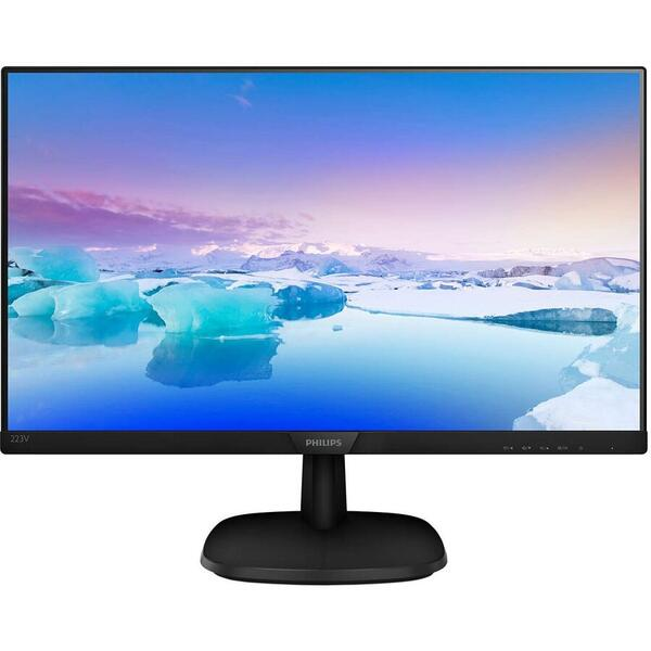 Monitor Philips 223V7QHAB/00, 21.5 inch, Full HD, 5 ms, Negru