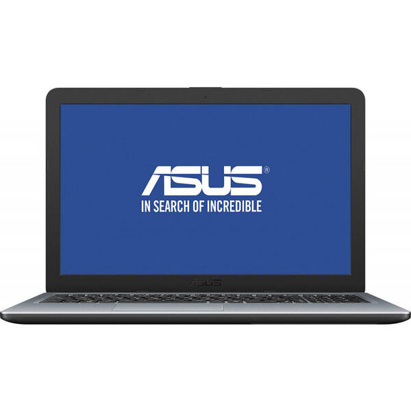 Laptop Asus X540MA-GO358, VivoBook, Intel Celeron Dual-Core N4000, 15.6 inch, RAM 4GB, HDD 500GB, Intel UHD Graphics 600, Endless OS, Silver