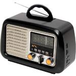 SAL Radio portabil retro SAL, RRT 2B, MP3, SD, USB, Bluetooth, Negru
