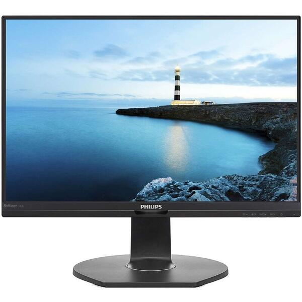 Monitor Philips 240B7QPJEB LED, 24 inch, VGA, HDMI, DisplayPort, USB 3.0, Negru