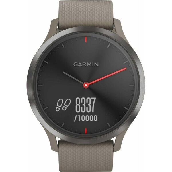Ceas inteligent Garmin 010-01850-03, Vivomove, HR, Black, Sandstone Silicone Band