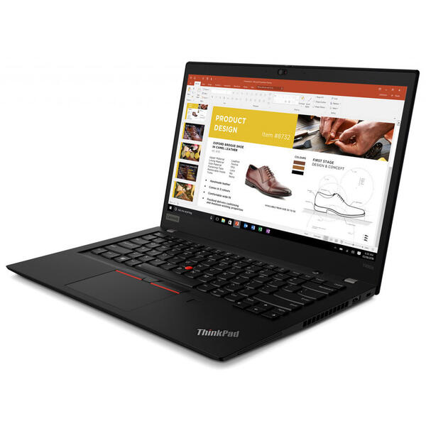 Laptop Lenovo LN T490s FHD i7-8565U 20NX000ERI, 14 inch, 16GB DDR4, 512GB SSD, Windows 10 PRO, Negru